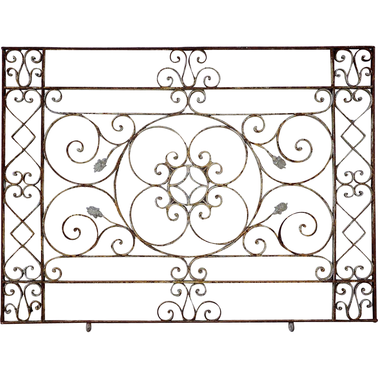 French Hand Forged Wrought Iron Balcony Railing