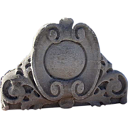 Pair of American Hand Carved Limestone Architectural Pediments