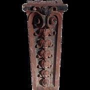 American Victorian Unglazed Red Terracotta Brownstone Corbel