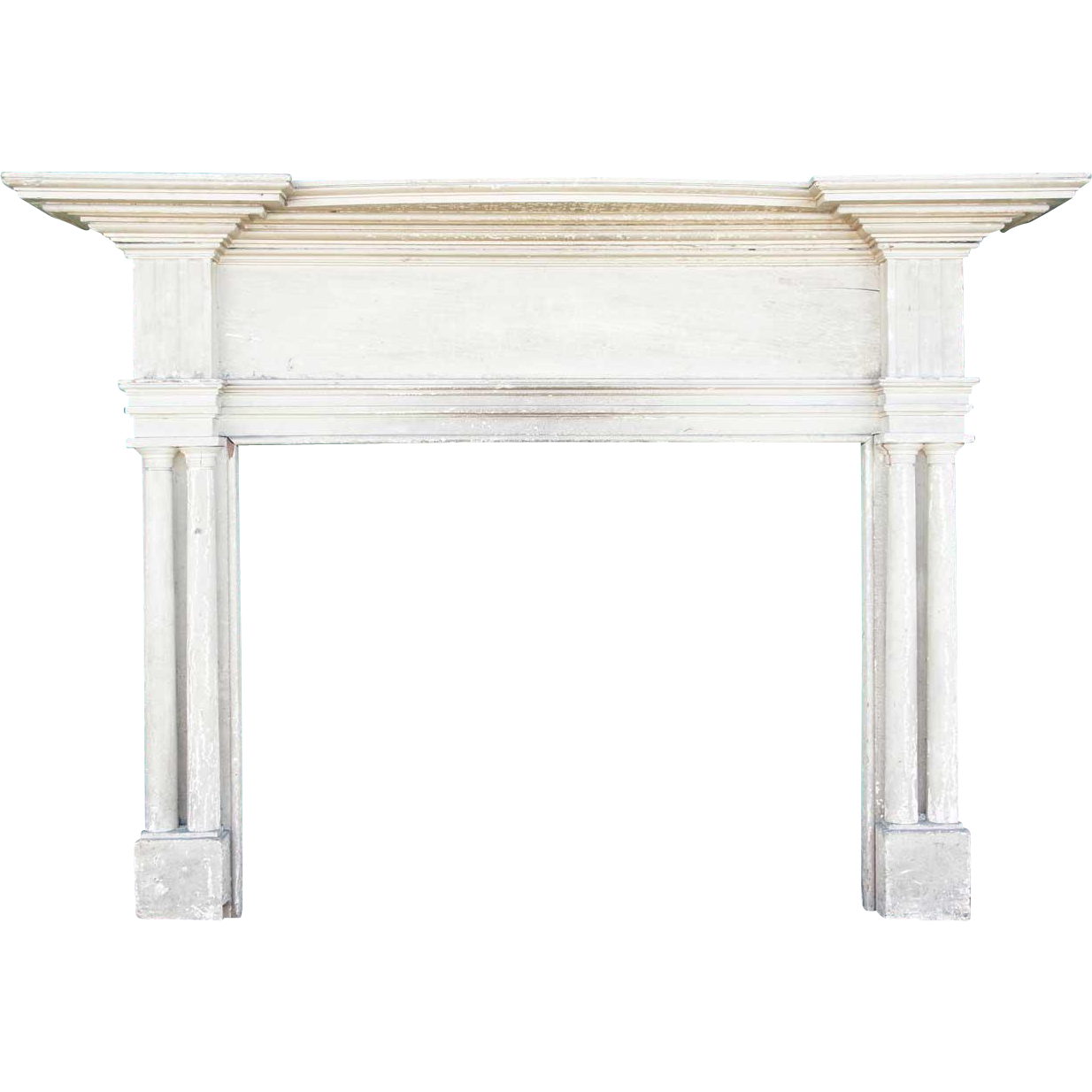 American Hancock House Painted Pine Fireplace Surround
