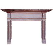 American Hancock House Federal Painted Pine Fireplace Surround