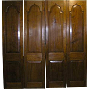 Set of Four Anglo Indian Gothic Revival Teak Doors