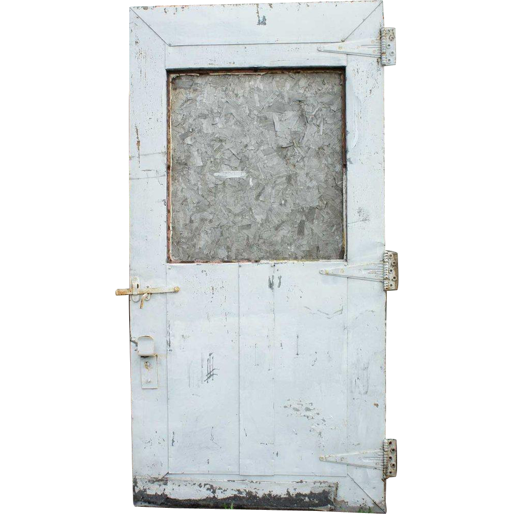 American Industrial Metal over Wood Single Warehouse Door
