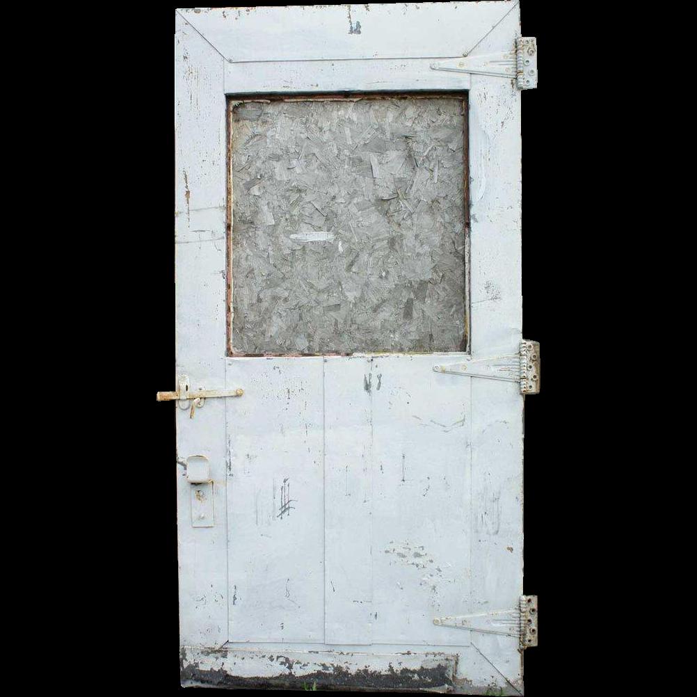 American Industrial Metal over Wood Single Warehouse Door