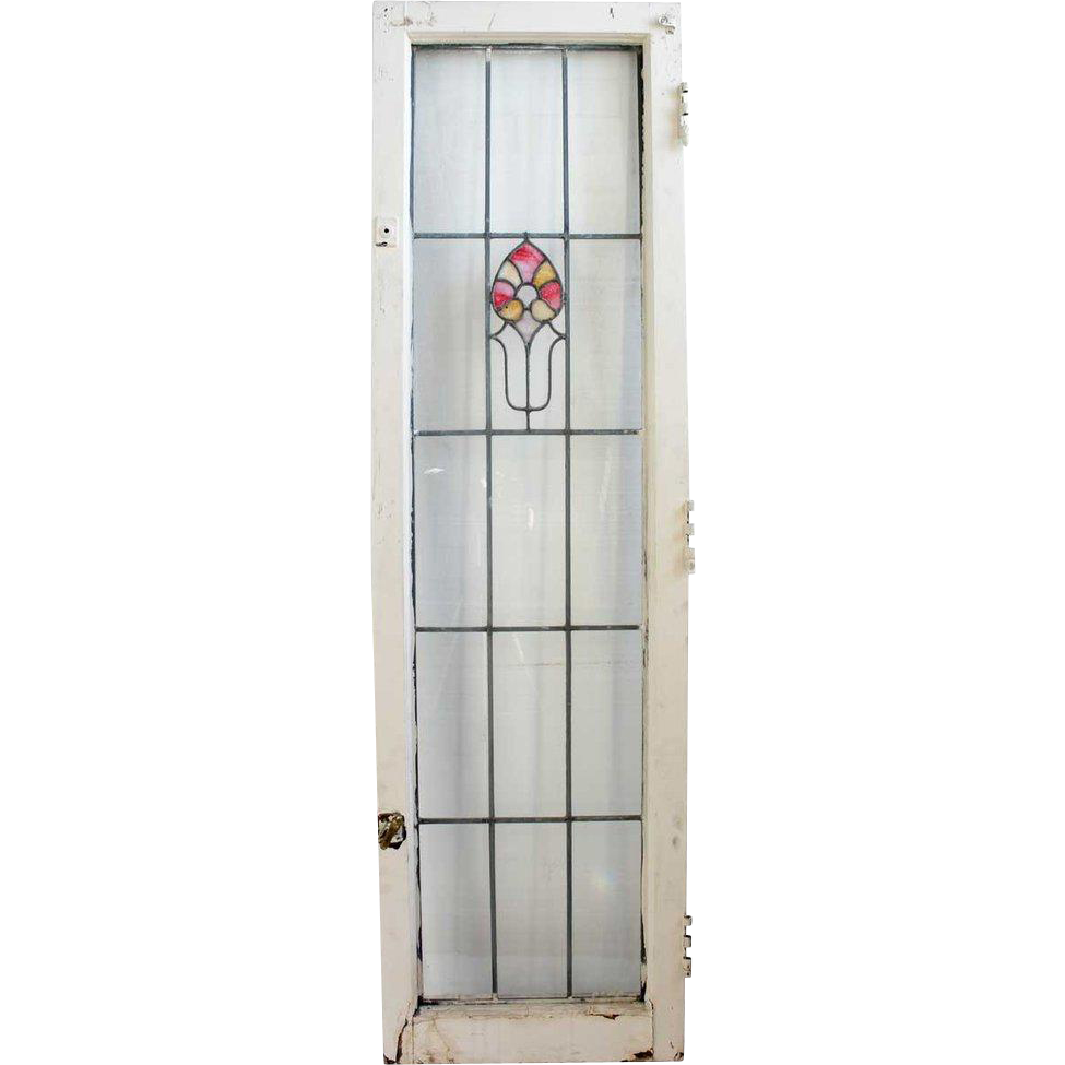 American Prairie School Stained and Leaded Glass Window