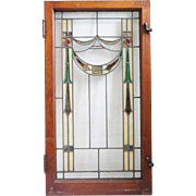 American Arts and Crafts Stained and Leaded Glass Window