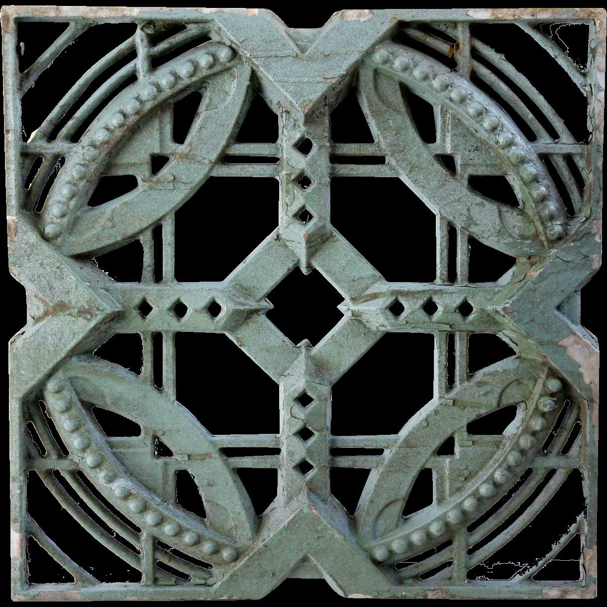 American John deKoven Hill Reticulated Aluminum Modular Panel