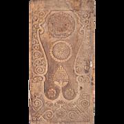 Danish Baroque Carved Oak Door Panel