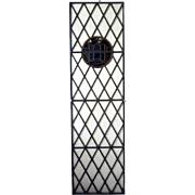 American Tudor Style Leaded and Stained Glass Library Window