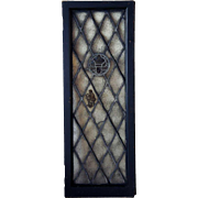 American Tudor Style Stained and Leaded Glass Window