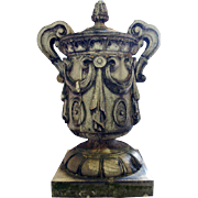 Large American Glazed Terracotta Architectural Roof Urn Finial