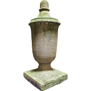 American Art Deco Limestone Architectural Roof Urn Finial