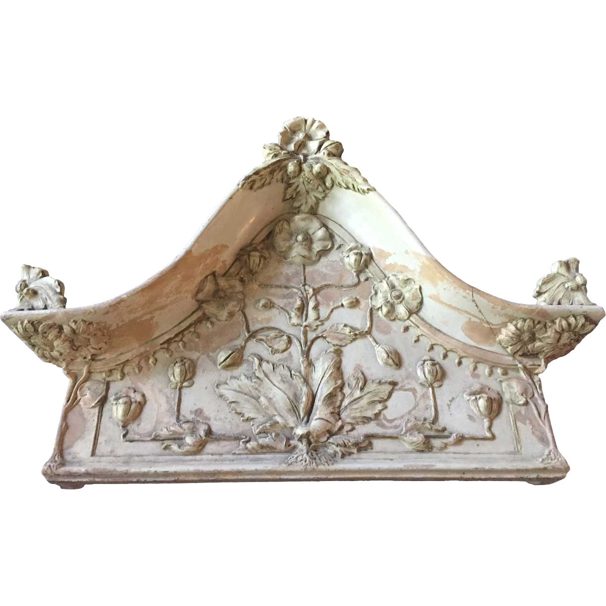Pair of Swedish H. Ehlers & Co. Architectural Terracotta Pediments