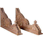 Pair American Victorian Pine Architectural Corbels