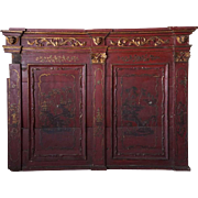 Continental Baroque Revival Painted Pine Wall Panel