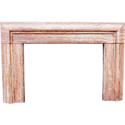18th Century Style Rose Travertine Fireplace Mantel Surround