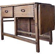Spanish Colonial Pine and Cottonwood Butcher or Baker's Table