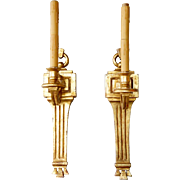 Pair of Vintage American PAUL FERRANTE Neoclassical Giltwood One-Light Sconces
