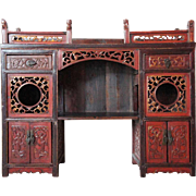 Small Chinese Jiangxi Province Painted Fir Display Cabinet