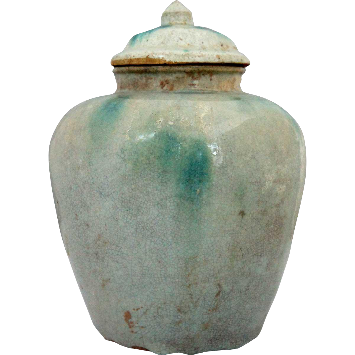 Chinese Hunan Glazed Pottery Ginger Jar