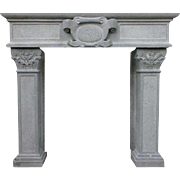 French Renaissance Style Volvic Stone Fireplace Surround