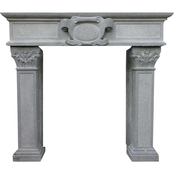 French Renaissance Style Volvic Stone Fireplace Surround