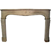 French Louis XV Style Stone Fireplace Surround