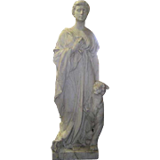 HENRI CRENIER Large Marble Sculpture of Neoclassical Figure