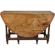 English George III Period Oak Gate-Leg Drop-Leaf Table