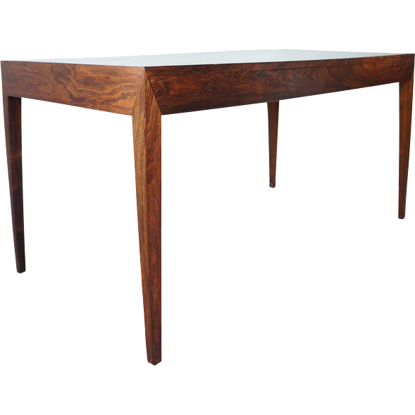 Danish mid century modern illums bolighus rosewood veneer writing ...