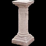 Neoclassical Concrete Garden Pedestal