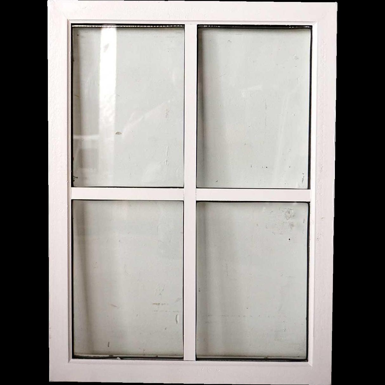 Medium American Lafayette Hughes Mansion Painted Iron Window