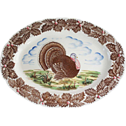 Large Vintage Japanese Maruta Ware China Tom Turkey Oval Platter