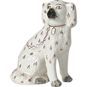 English Victorian Style Staffordshire Pottery Dog