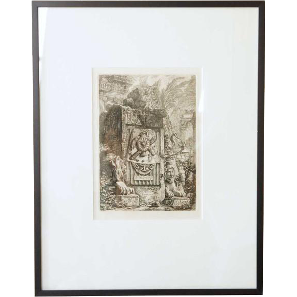 After GIOVANNI BATTISTA PIRANESI Engraving of Architectural Ruins