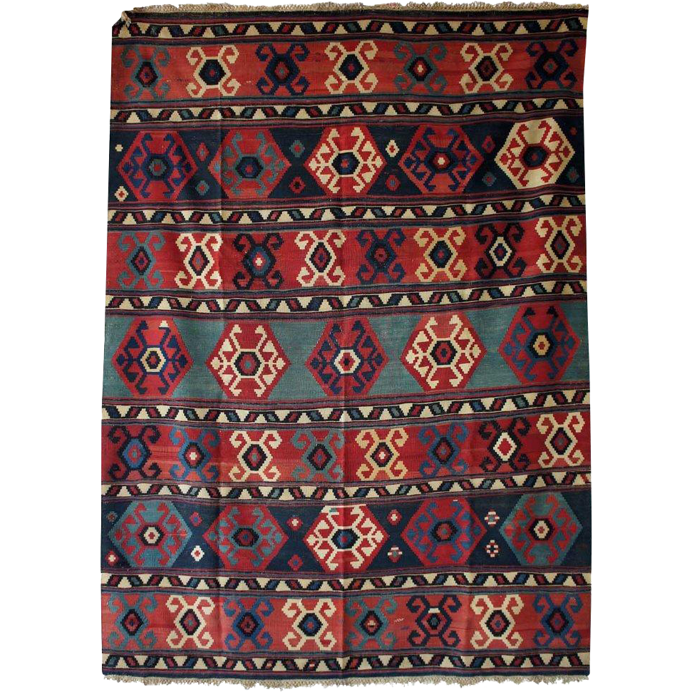 Wool Flat Weave Kilim Carpet