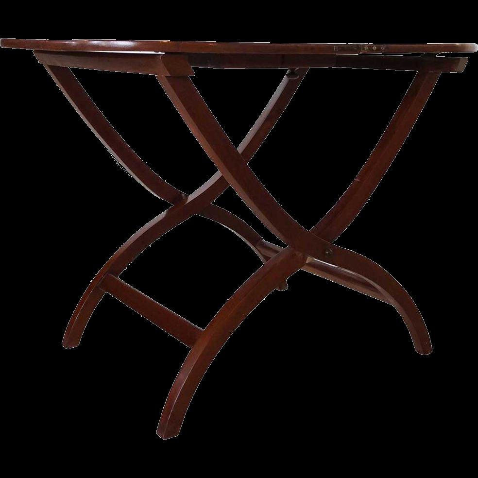 Vintage Mahogany Folding Side Tray Table