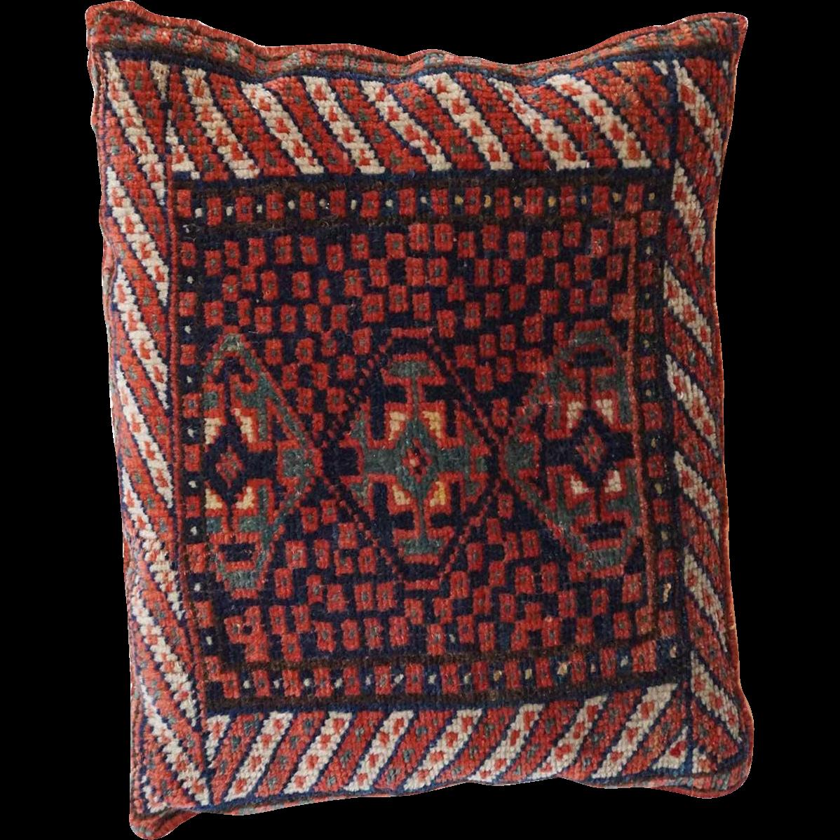 Vintage Red Bag Face Pillow