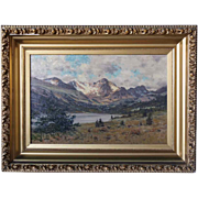 CHARLES PARTRIDGE ADAMS Oil on Canvas Painting, Arapaho Peaks and Silver Lake