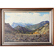 JAMES EMERY GREER Oil on Canvas Painting, The Elk Range, Colorado
