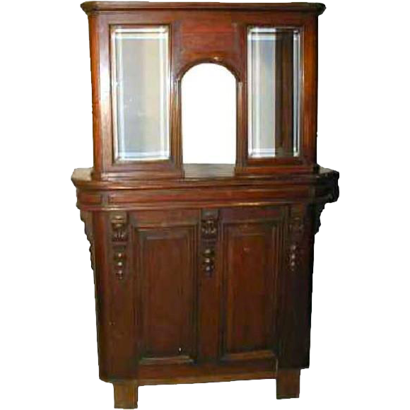 English Victorian Solid Mahogany and Glass Theater Ticket Booth