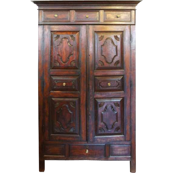 Anglo Indian Teak Wardrobe Cabinet