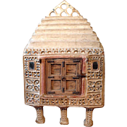 Indian Kutchi Mirrored Mudwork (Lippan Kam) Food Storage Cabinet