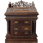 Anglo Indian Teak Table-Top Campaign Desk