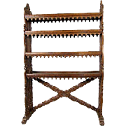 Indo-Portuguese Rosewood Open Bookcase
