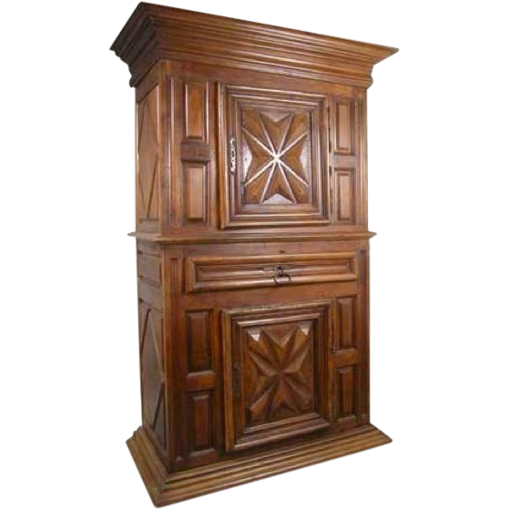 French Louis XIII Walnut Homme Debout Cupboard