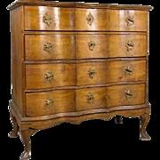 Danish Baroque Oak Chest of Drawers