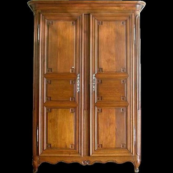 French Directoire Oak Armoire