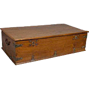 Large Indo-Portuguese Teak Storage Box