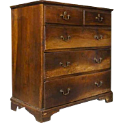 Small English Chippendale Walnut Chest of Drawers